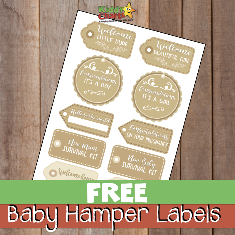Are you looking for baby gifts? Do you want to give a baby hamper to a friend or spouse? We've got some fabulous free baby hamper labels to add to your hampers for free now - why not check them out? #babygifts #newbaby #babyhampers #baby