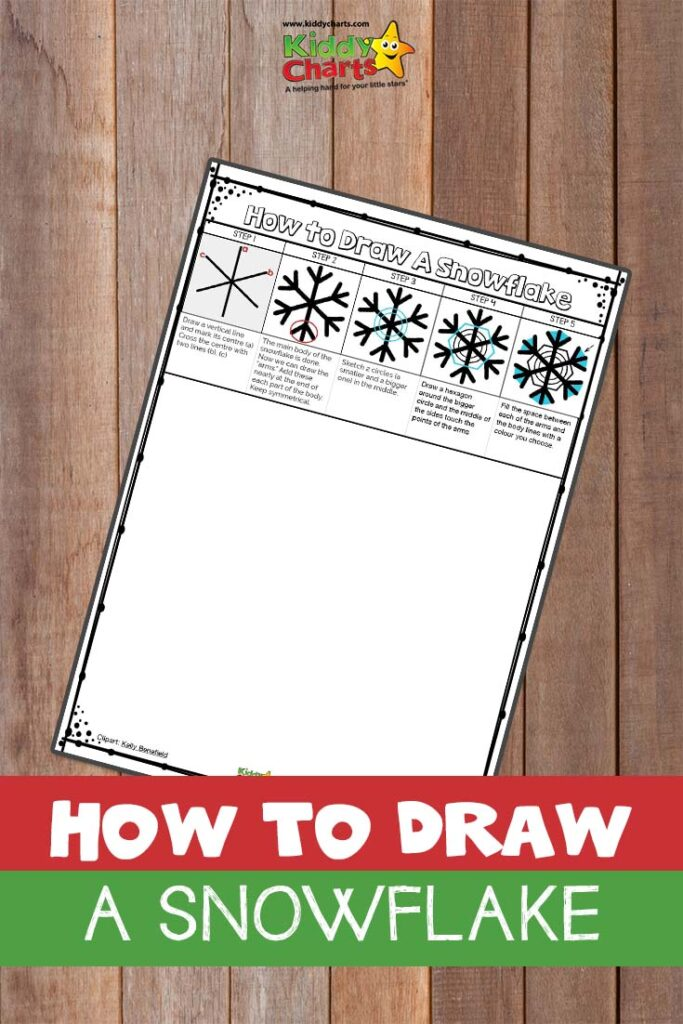 How to draw a snowflake free printable