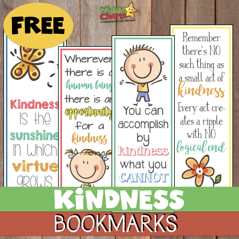World Kindness Day Bookmarks