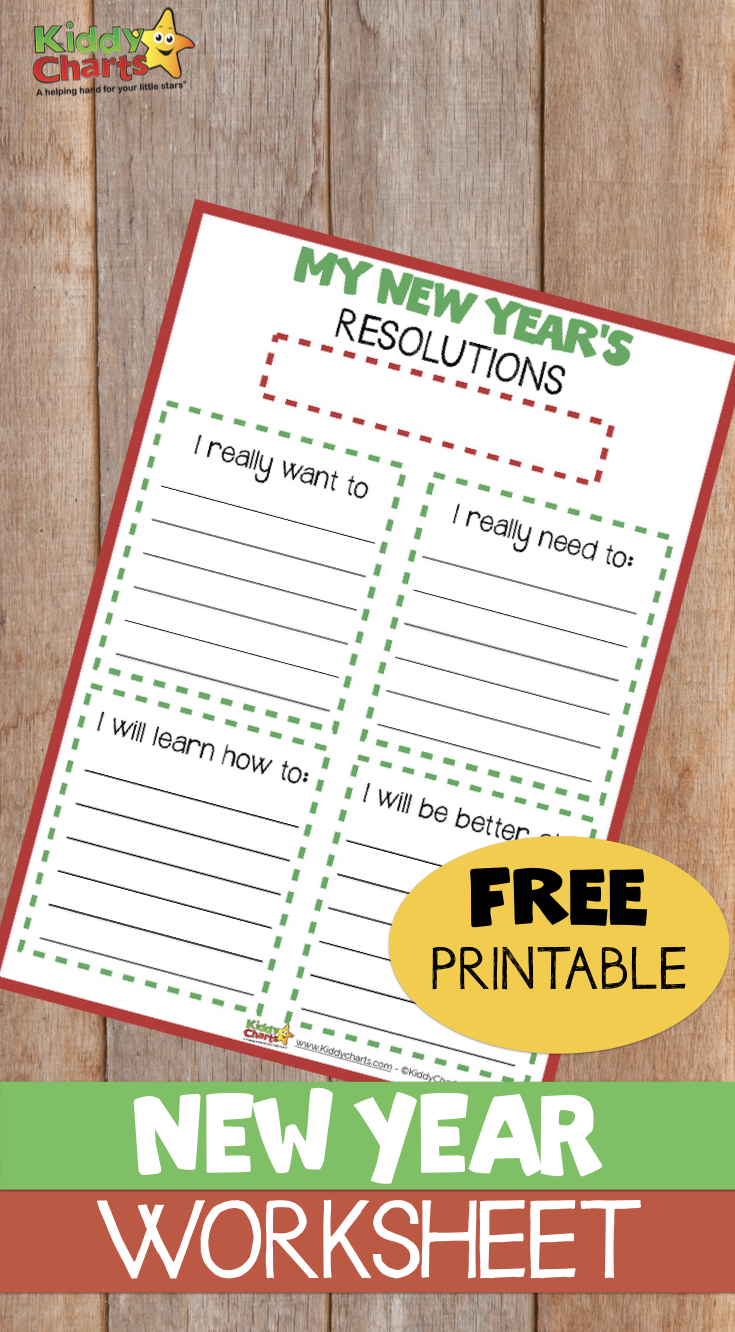 Making New Years Resolutions? Then we've got a fabulous free printable for you and the kids so you can put it in writing and stick with it. Check it out now! #newyears #motivation #newyearsresolution