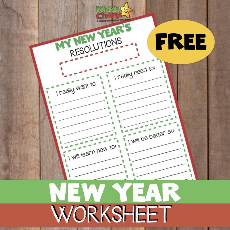 Making New Years Resolutions? Then we've got a fabulous free printable for kids and parents