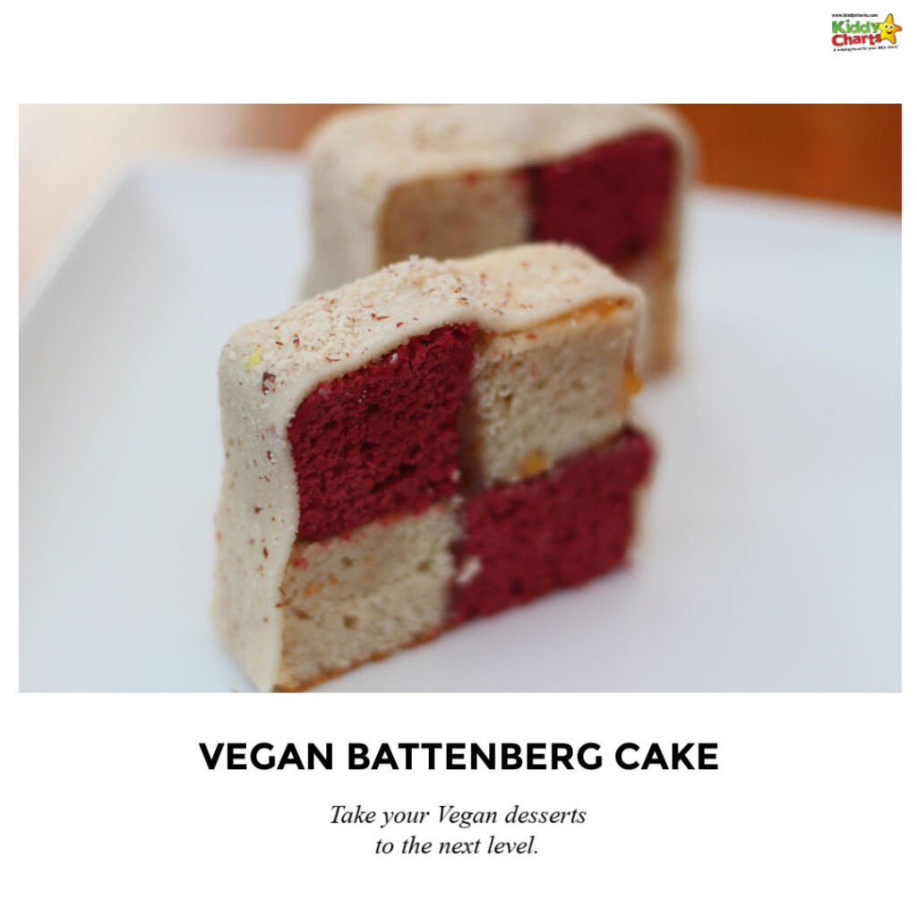 Vegan Battenberg cake recipe