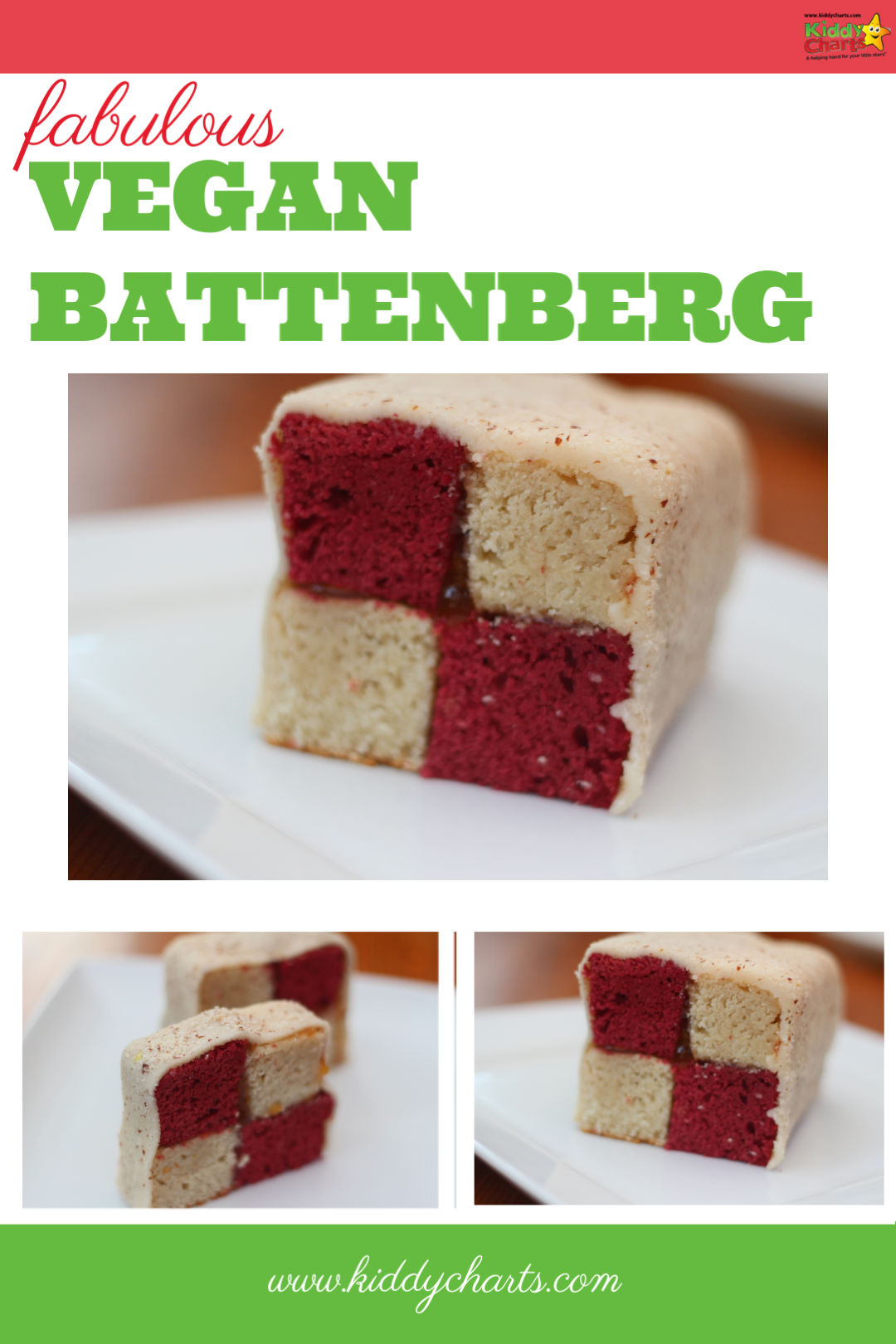 Are you after a vegan battenberg cake? Then this one with Beetroot and Coconut will be perfect for you. Go check it out! #vegan #veganrecipes #vegancakes #battenberg