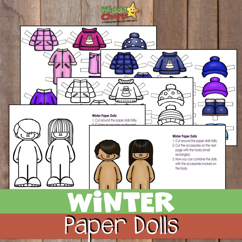 We've got gorgeous christmas jumper paper dolls for you - winter paper dolls for the kids to dress and colour in! Come over and check them out now #kidsactivities #winter #crafts #kidscraft
