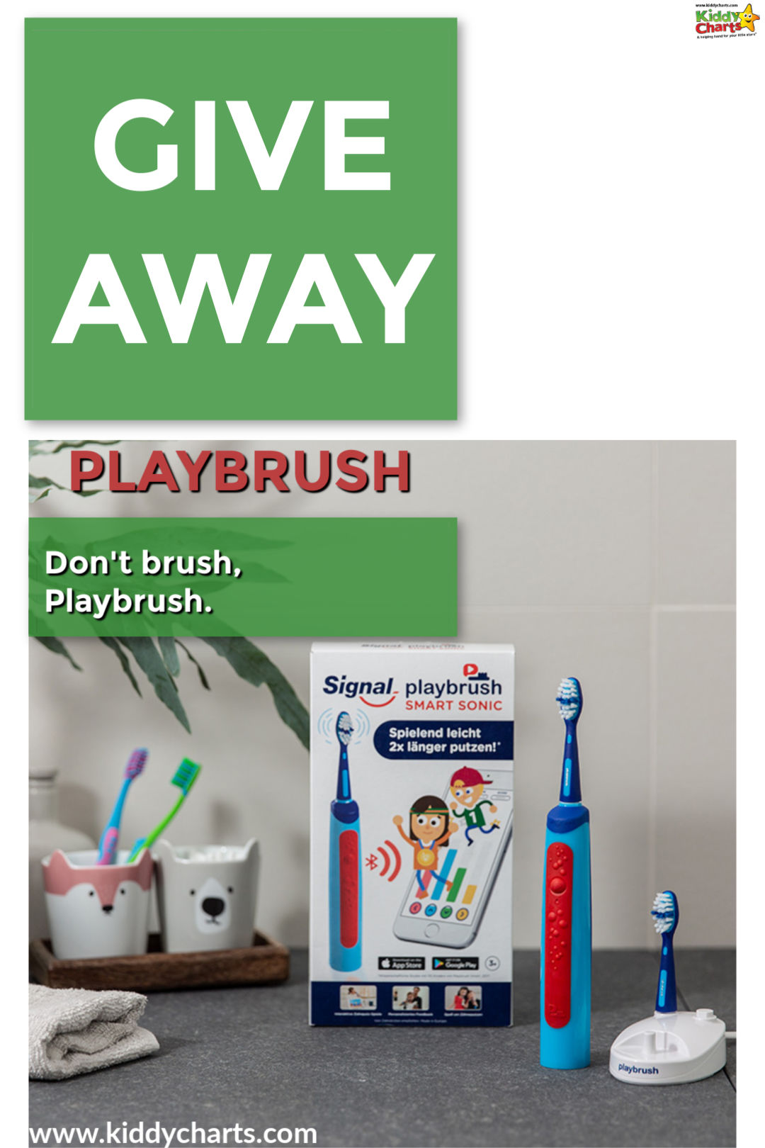 Pop over and enter our giveaway for a Playbrush; make life easier at teeth cleaning time! Closes 30th Nov, 2018. #teeth #kids