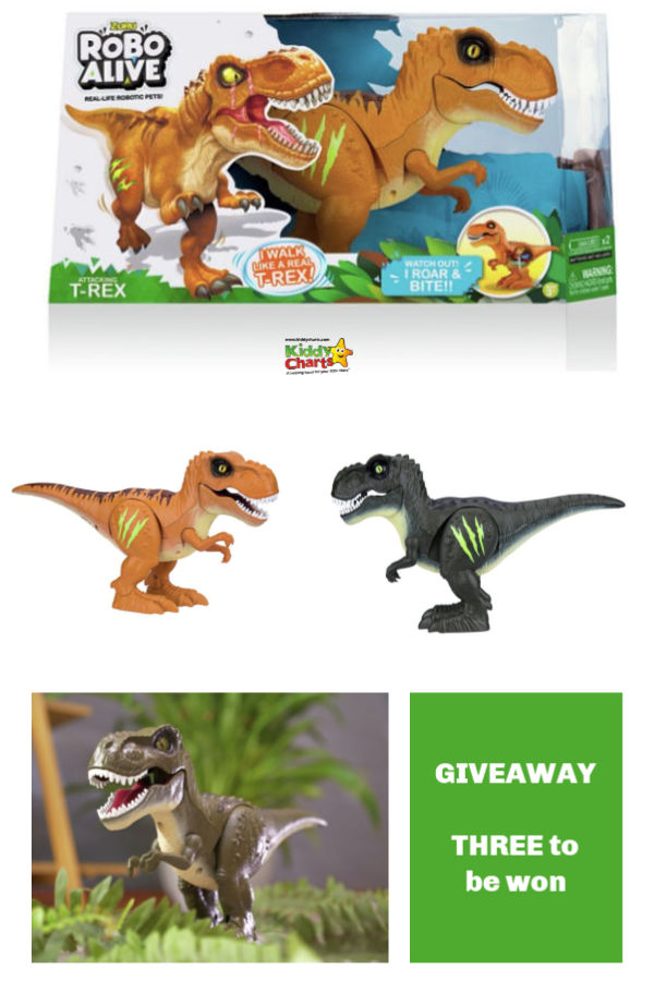 Robo Alive Dino is the new robo toy on the block from ZURU. We've got three to give away, so come in and enter now! #giveaways #toys #kids