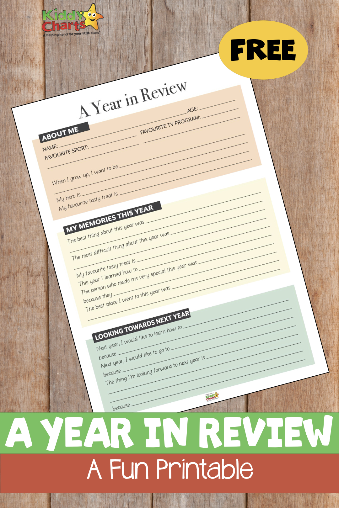 Look back on the last year with this great FREE printable for you and the kids. Happy New Year! #newyears #kidsactivities #newyear
