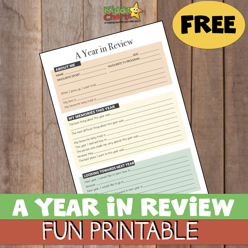 New Year activity: Year in Review FREE printable for kids