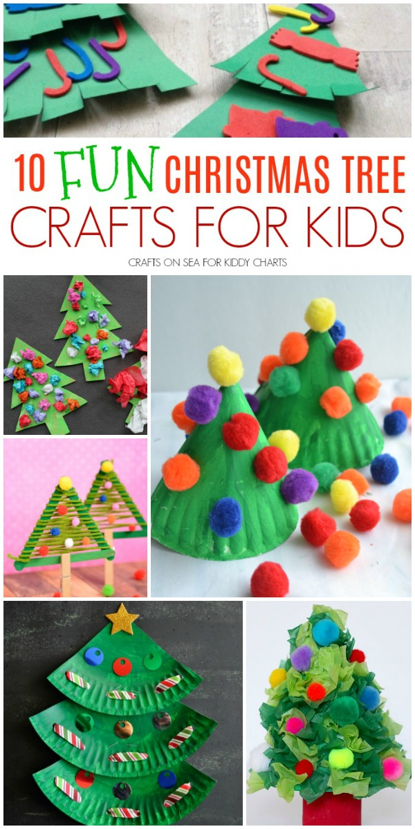 Are you looking for Christmas Tree crafts for kids - then look no further - we have you covered! #christmas #kidscrafts #christmastrees