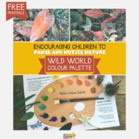 Nature activity for kids: Wild world colour palette