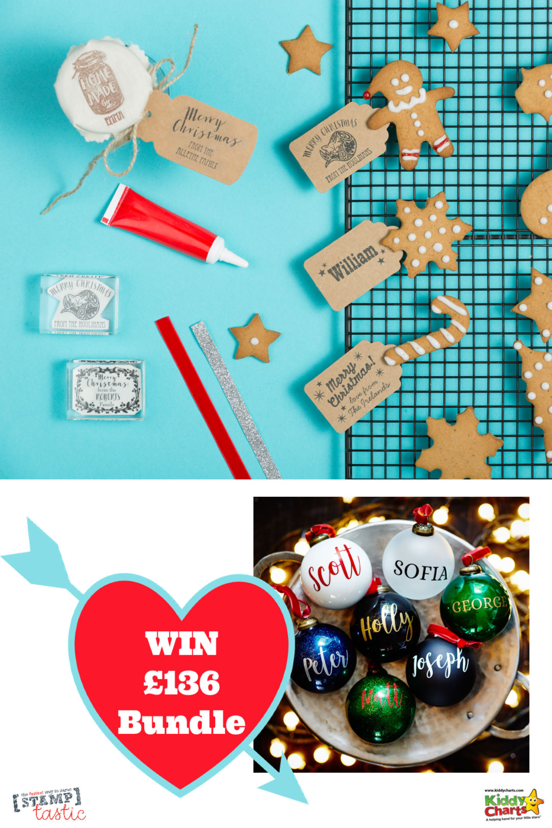 Win £136 of goodies from Stamptastic for a fabulous personalised Christmas! #giveaways #win #christmas