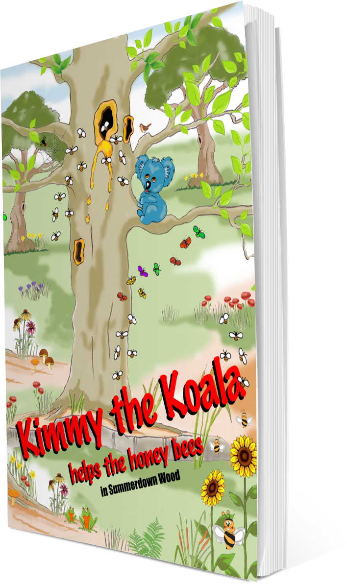 We have a lovely new treat for you today; some koala coloring pages, and other fabulous characters too, from a wonderful new book; Kimmy the Koala Helps the Honey Bees. #koalas #coloring #kidscoloring #australia #homeschooling