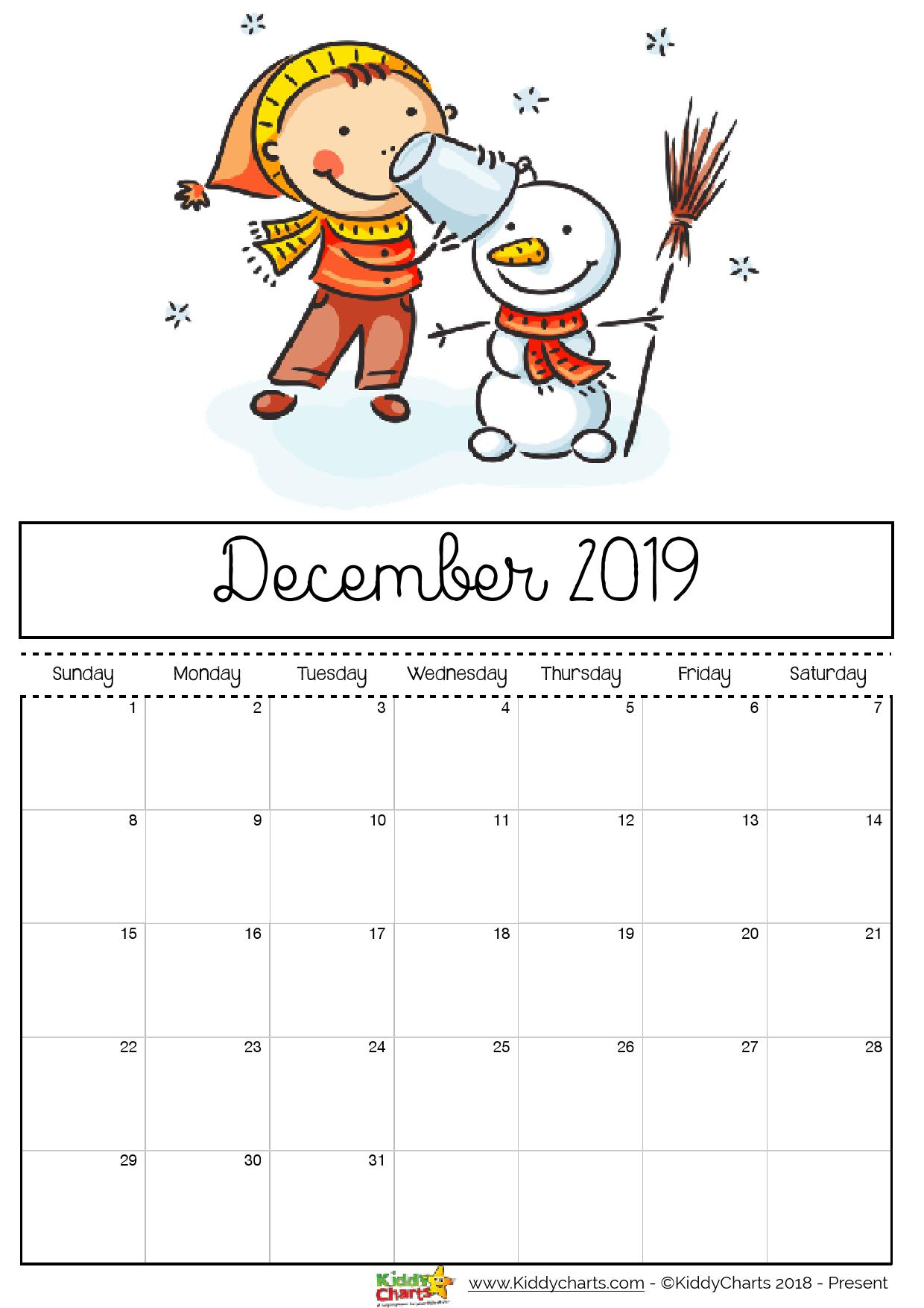 Free Printable 2019 Calendar Print Yours Here Kiddycharts