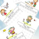 2019 calendar printable - lots of lovely pictures for the kids, that suit every season in the year, and give some ideas for what you might want to get up to with the kids every month too. #printables #2019calendar #kidsprintables