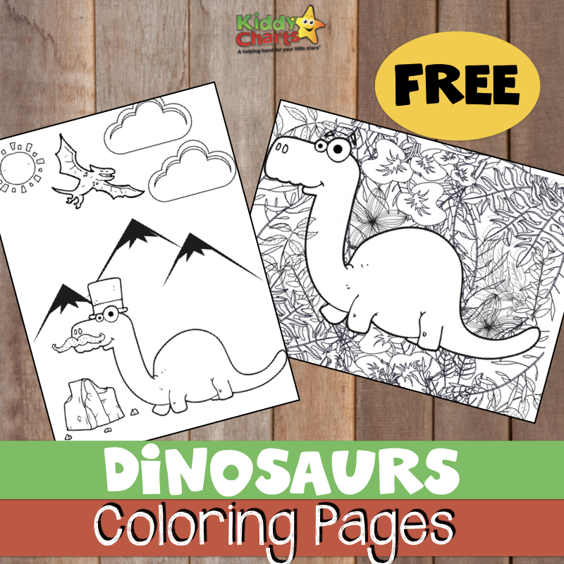 Dinosaur coloring pages for adults and kids