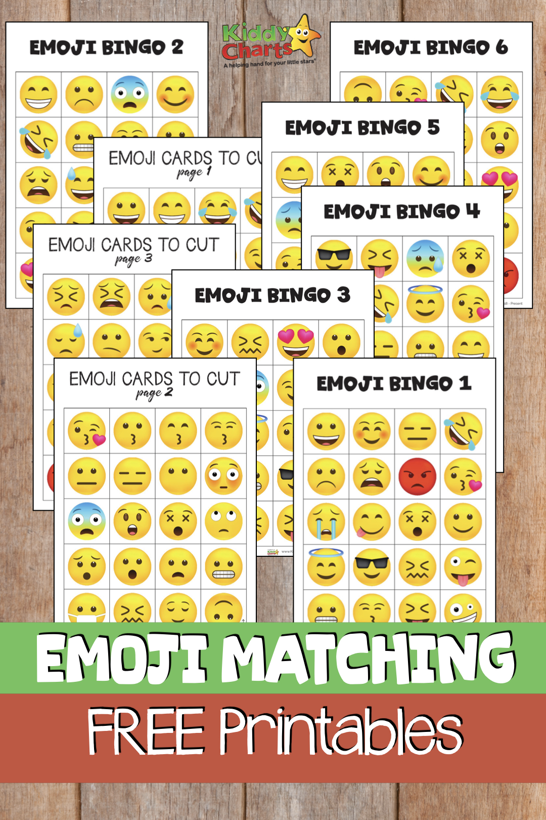 We have a fabulous game for you - Emoji Bingo. Play it with the kids today! #Emojis #Printables #Games #Bingo #Matching #FreeStuff