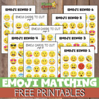 Free Emoji Bingo game for kids