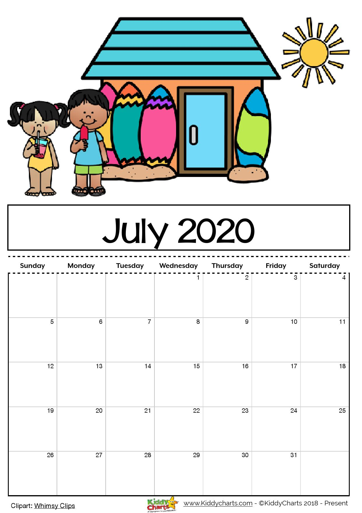 Looking for a free printable 2020 calendar? Then we've got it for you - come take a look now! #calendar2020 #printables #kidsprintables #calendars #kids