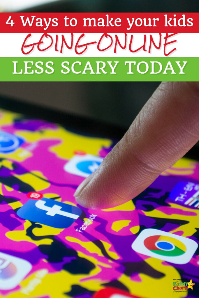 What can you do today with your kids to help make it a little less scary for you when they go online - take control with our tips! #kids #online #technology #apps