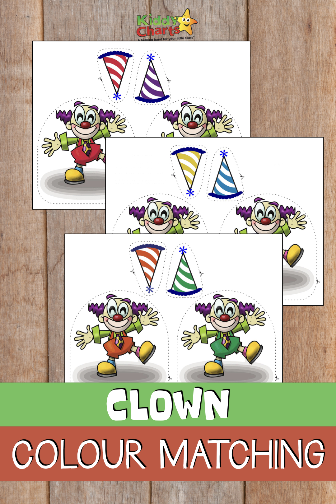 Learning colours: Clown colour matching game