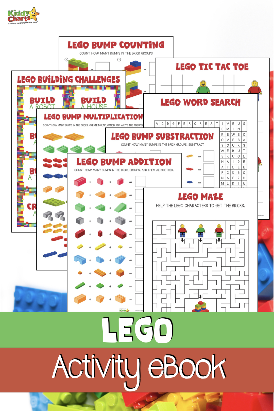 Who doesn't love LEGO?!? We have a Lego activities book for FREE for the kids - perfect for you to download and give them some fun things to do anytime of year! #Lego #kidsactivities #legoforkids #legofun #free #freeactivities #printables #ebooks #freeebooks