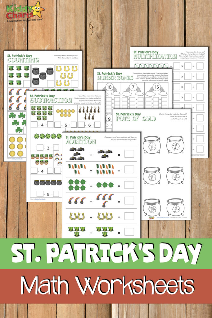 Looking for some great St Patricks Day Math activities for kids - then we've got them for you! #stpatricksday #irish #kidsactivities #printables #free