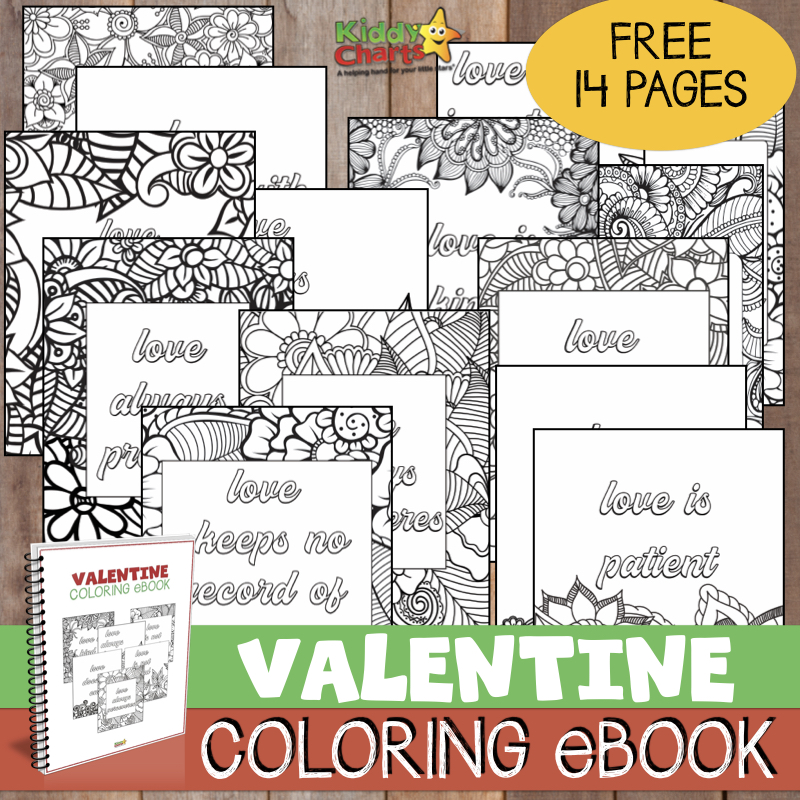 We have a lovely Valentines coloring book for you to download - check it out now! #valentinesday #love #coloring #valentines #ebooks
