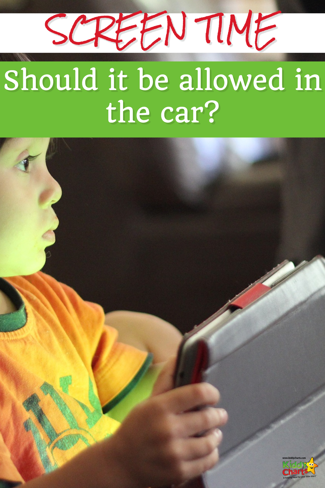 Should you be allowing screen time in the car with your kids - what do YOU think? #technology #screentime #kids #parenting #parents