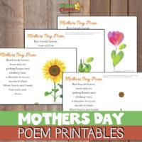 Free handprint Mothers Day poem printable