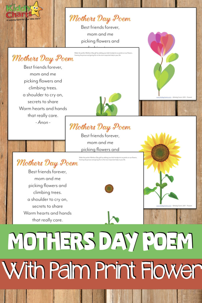 Check out this beautiful little homemade gift from your children - try out this Mothers Day Poem, and free handprint printable gift!