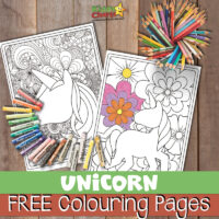 Unicorn coloring pages: For kids and adults