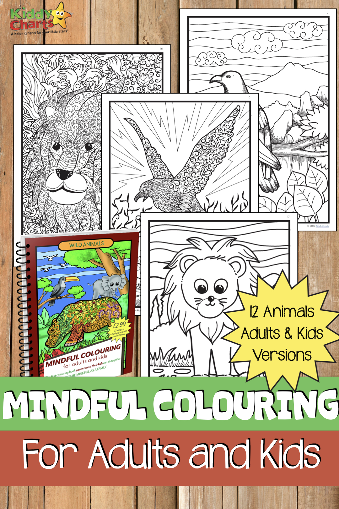 Enjoy 24 pages of colouring fun with our wild animals mindfulness colouring book - all for the price of a coffee. £1 of which goes to Rethink, the mental health charity.