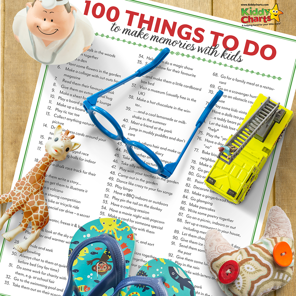 100 Things to do to make memories IG