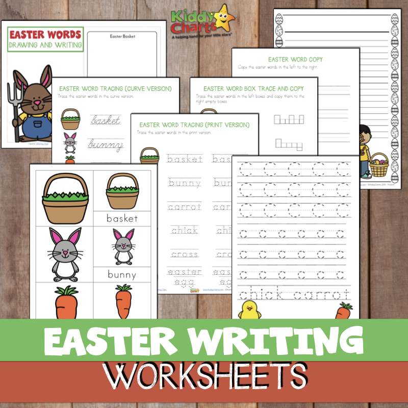 Gorgeous Easter Writing activity - four pages, and the option to buy a fabulous eBook for Easter writing activities with 33 pages! #ebooks #Easter #Writing #Homeschool #EasterActivities #Learning