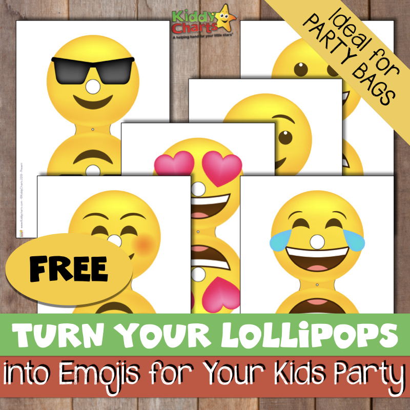 The perfect party bag idea - emoji lollipops covers
