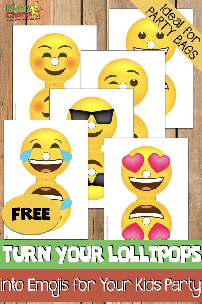 Emoji lollipop covers