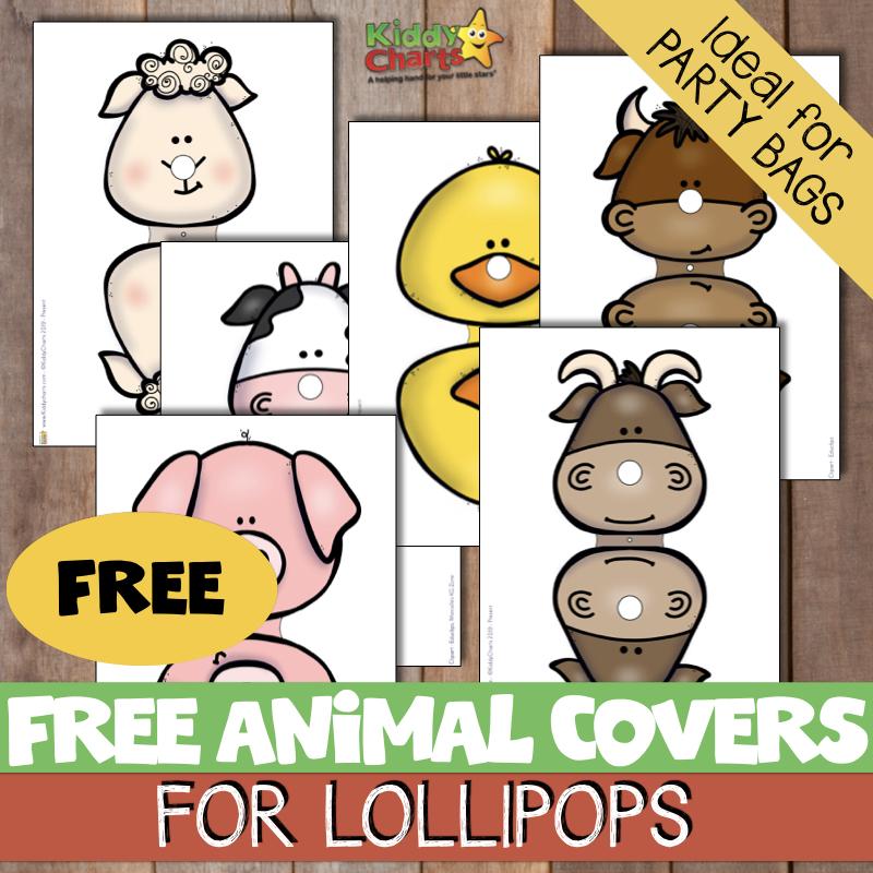 free farm animal lollipop printables.