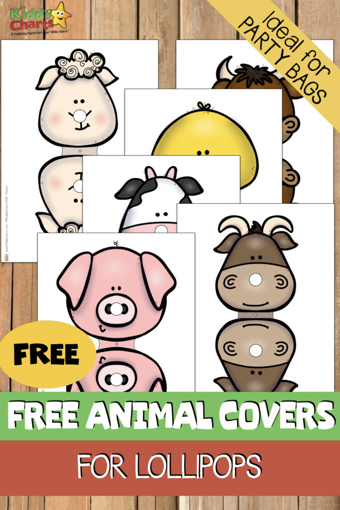 free farm animal lollipop printables.