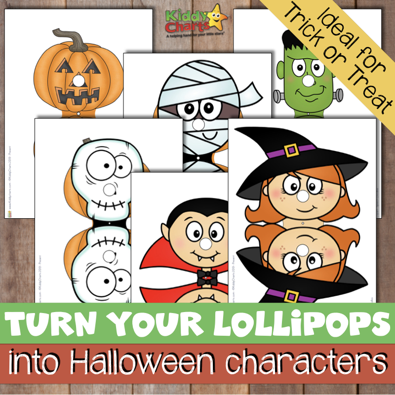 turn your lollipops into Halloween characters