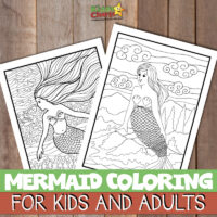 Mermaid coloring pages: For adults and kids