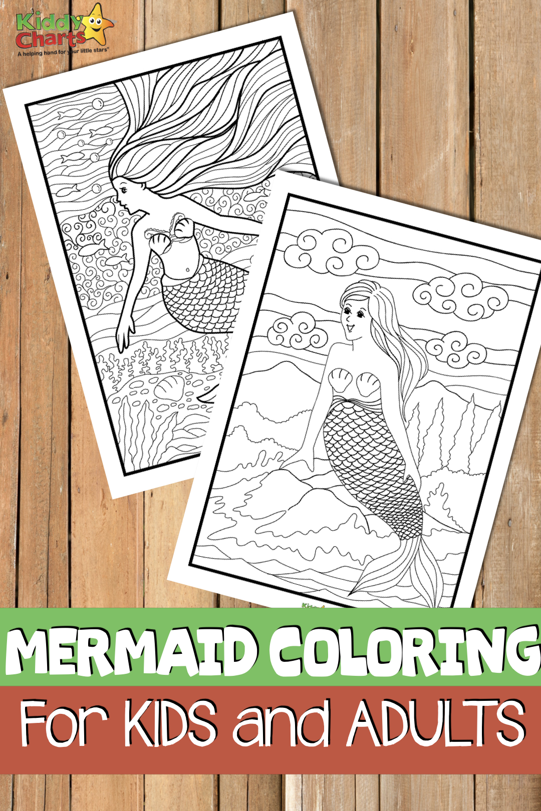We have some gorgeous mermaid coloring pages for you today, both for adults and kids. We hope you love them; do check them out. #mermaids #coloring #coloringpages #adultcoloring #kidscoloring