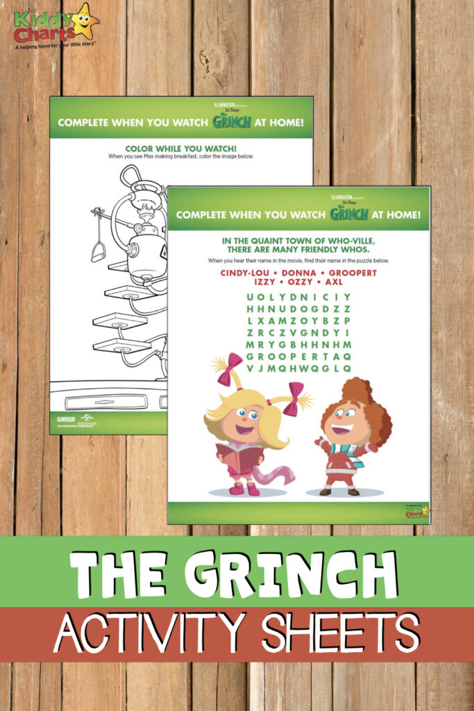 Who loves The Grinch? We've got some amazing activity sheets for you from the new film - the kids will love them. Do check them out? #TheGrinch #drseuss #kidsactivities #coloring #printables #freestuff