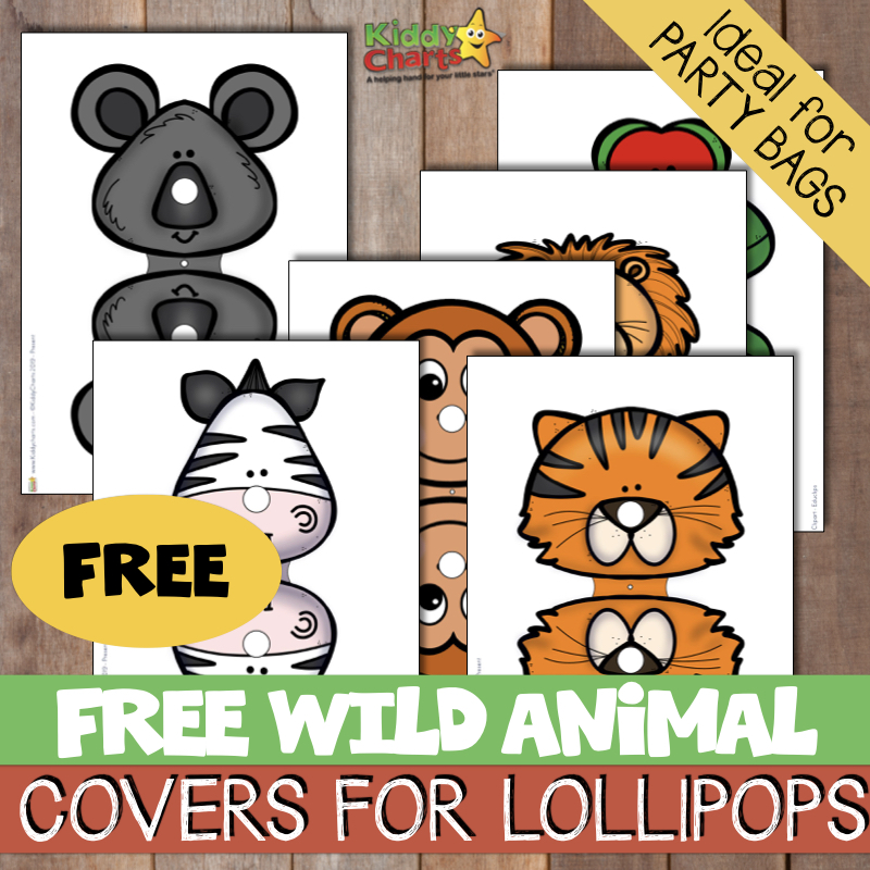 Free wild animal covers for lollipops