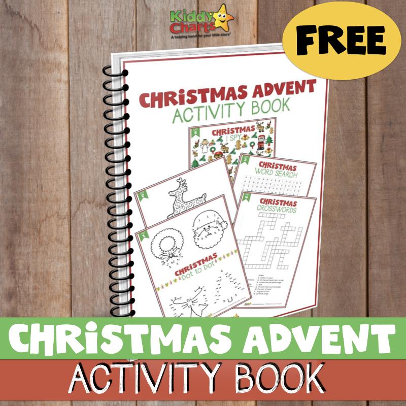 24 Christmas activities for kids; Free eBook #KiddyChartsAdvent