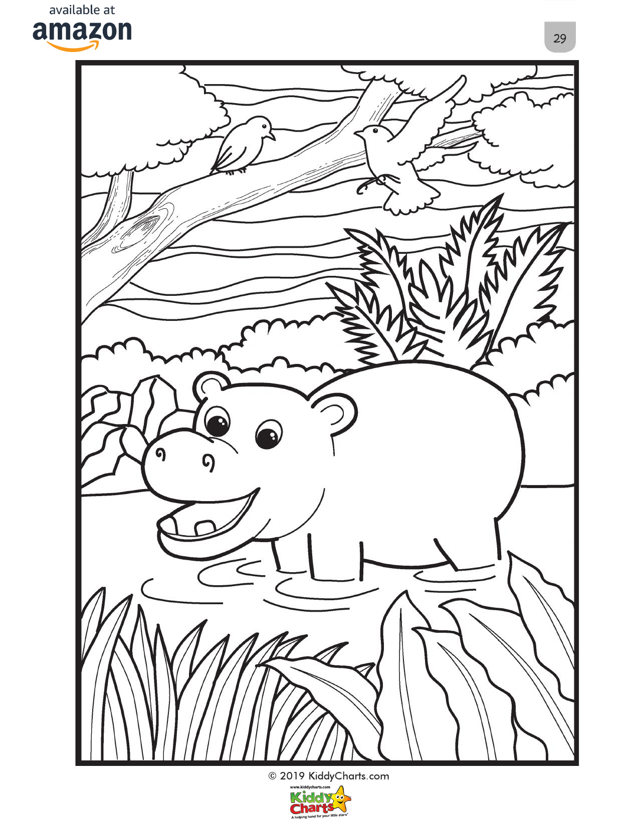 Our Hippo mindful coloring page for kids, part of our mindful coloring book. Get this for free and check out the rest! #coloring #colouring #animals #kids #adultcoloring #kidscoloring #hippos #nature #coloringbook #coloringbooks #freestuff
