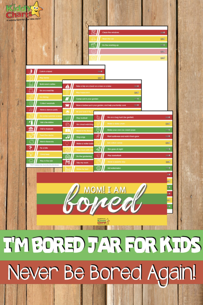 I'm Bored - something we hat to hear. So we have a Im Bored Jar for you to take a look at making so you never have to hear it again! #ImBored #KidsActivities #Printables #FreeStuff #Fun #Kids #Boring #learning