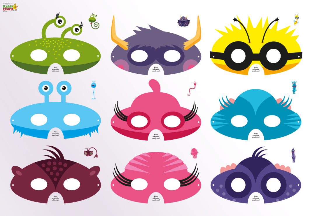 Cute monsters paper masks - boredom busters gift guide
