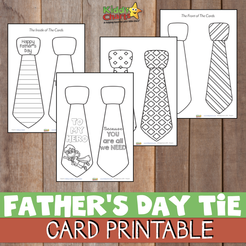 Finding the perfect Father's Day tie card may seem like an impossible feat. Sit down with your kids to print this adorable free printable father's day tie card. Work together to cut the card out and color it in Dad's favorite colors.
