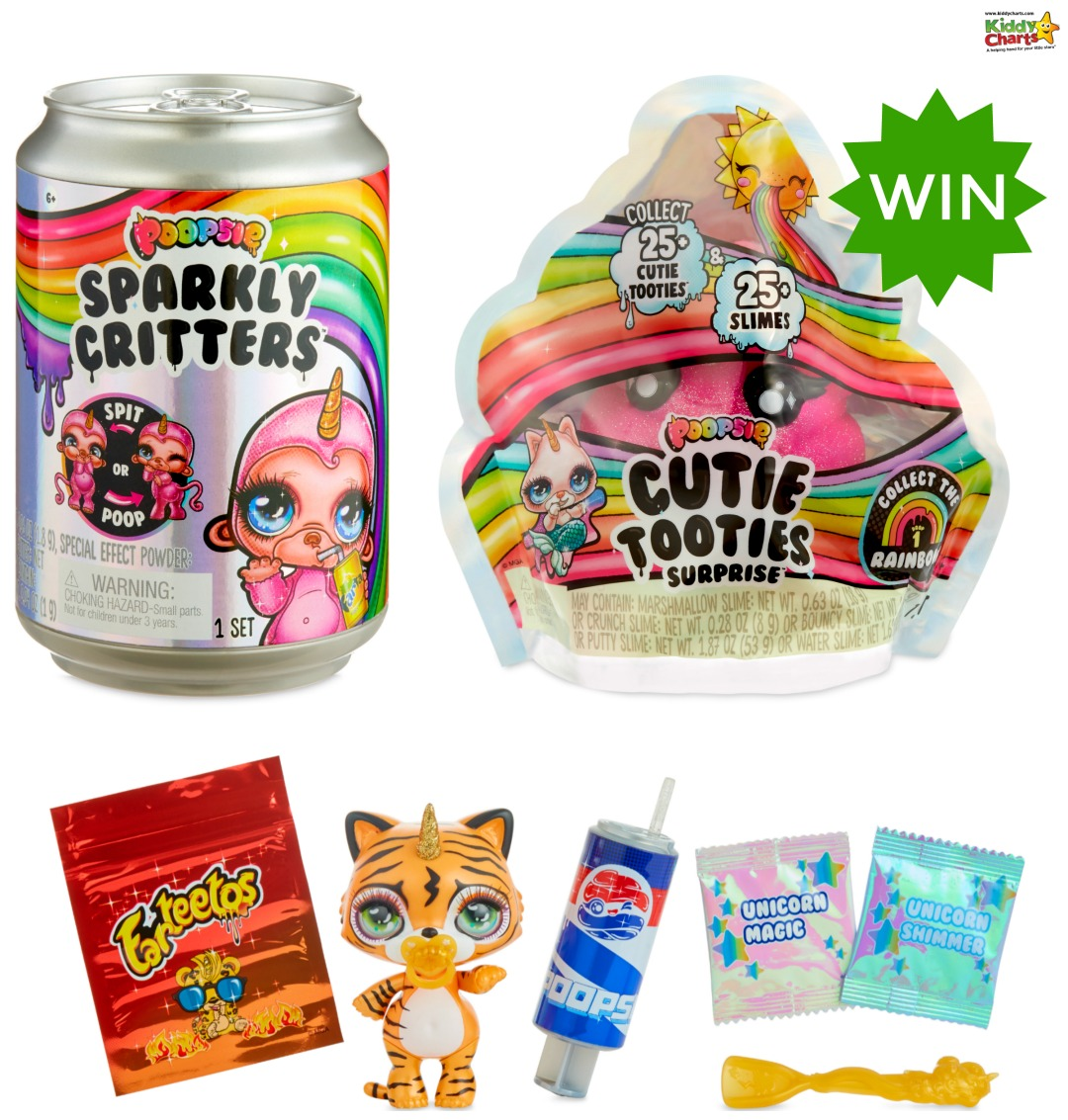 We love Poopsie slime - and we bet you will too with these Sparkly Critters and Cutie Tooties, as well as Poopsie Poo to win! #giveaways #win #poopsie #slime #slimefun