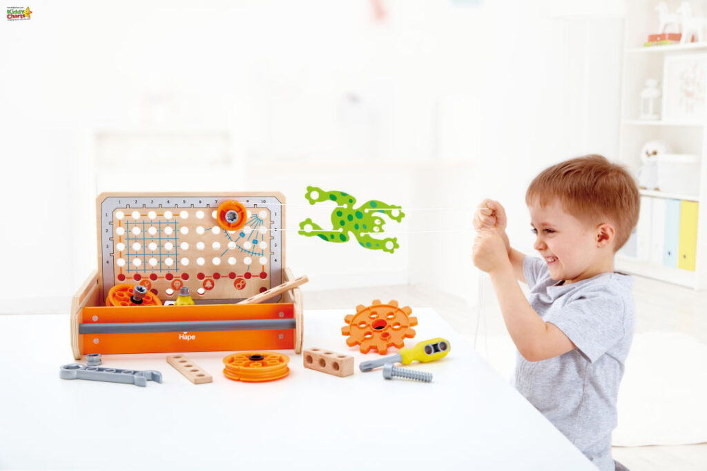 Wooden science experiment toolbox giveaway from Hape.